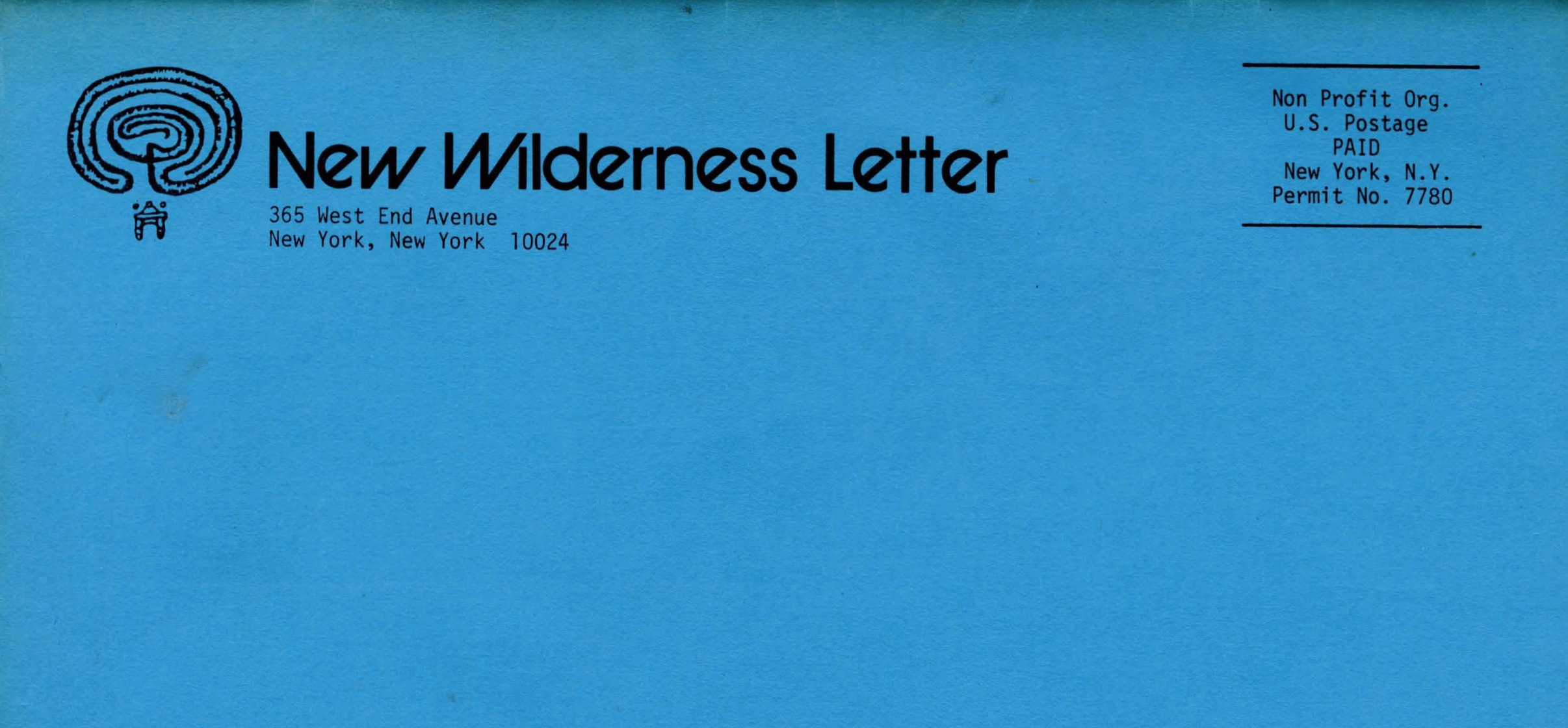 New Wilderness Letter, No. 1