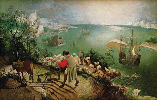 'Landscape with the Fall of Icarus,' Pieter Bruegel the Elder, 1558.