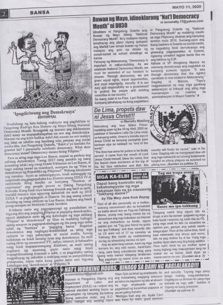 "The editorial page of ""Los Banews."" Image courtesy of Magpies."