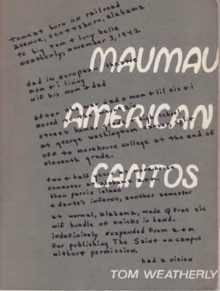 front cover, 'Maumau American Cantos'