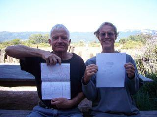Bob Grenier and Stephen Ratcliffe in Bolinas.