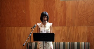 Carribean Fragoza at PALABRA Reading at REDCAT Lounge, image by Michael Sedano