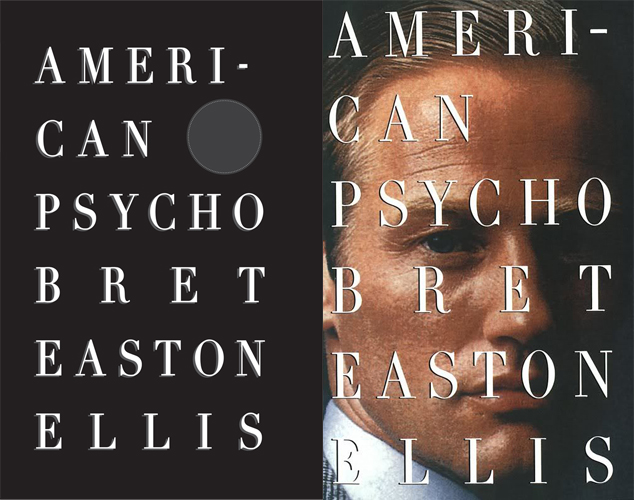 American Psycho covers side-by-side