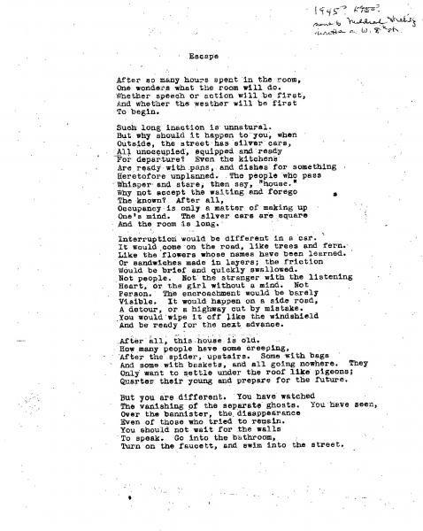Typescript of two early poems by Barbara Guest   Jacket2