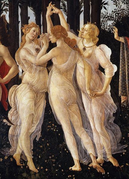 "Sandro Botticelli's ""Three Graces in Primavera"""