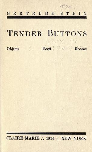 stein tender buttons