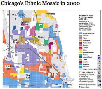 Chicago's Ethnic Mosaic in 2000