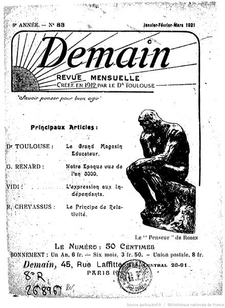 Demain Review, No. 83, Jan-Feb-Mar 1921