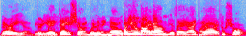 "Perceived ""Formant Arches"" as Visible with Audacity Spectrogram"