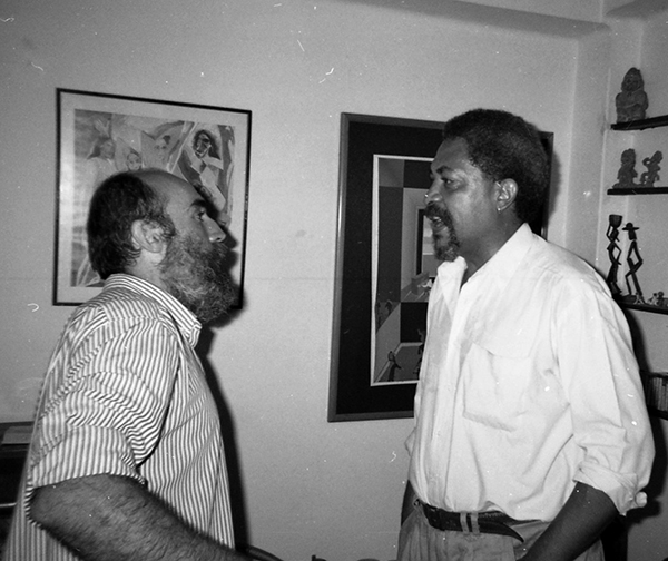 Nelson Villalobo and Angel Escobar, Havana, 1987. Photo by Eva Leal Lavandera.