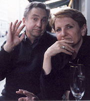 John Tranter and Pam Brown, Berlin, 2001, photo by Jane Zemiro