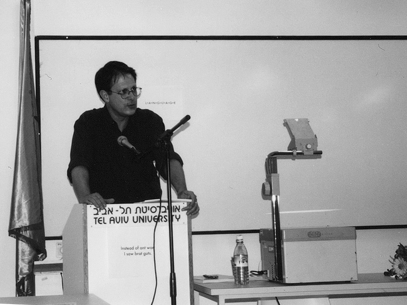 BW lecturing in Tel Aviv. Photo: author