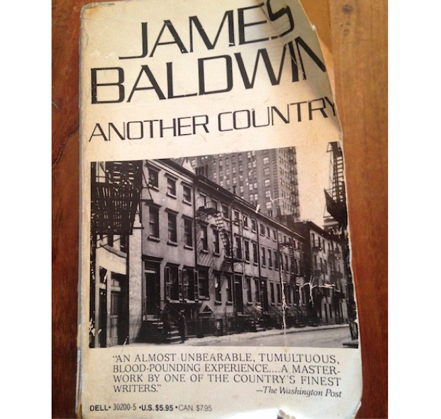 Ripped up copy of James Baldwin's 'Another Country'