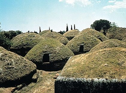 The necropolis at Cerveteri