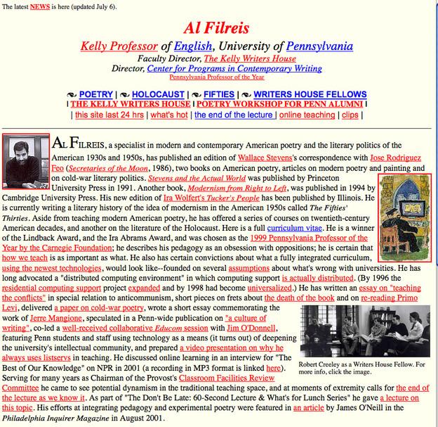Filreis old web page