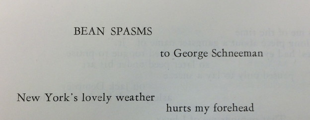 for George Schneeman poem AH issue 3