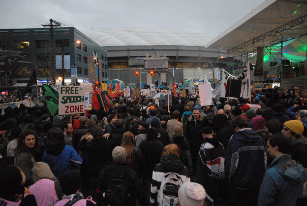 Olympics protest in Vancouver, February 2010