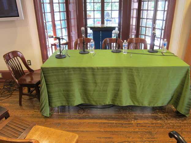 Table at Kelly Writers House