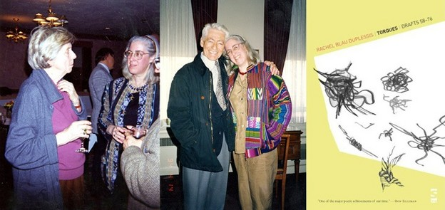 Rachel Blau DuPlessis and Barbara Guest in the 1990s; DuPlessis and Robin Blaser