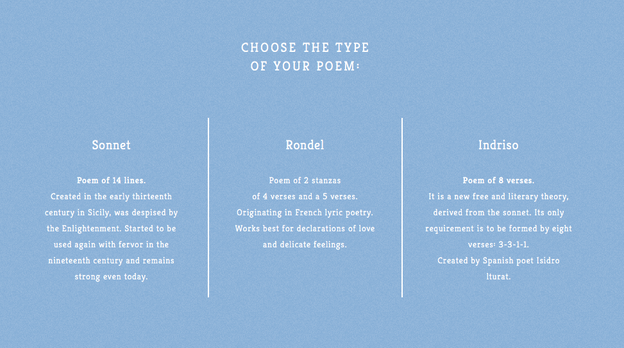 Poetweet transforms users' tweets into sonnets, rondels, or indrisos