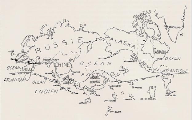 surrealist map world