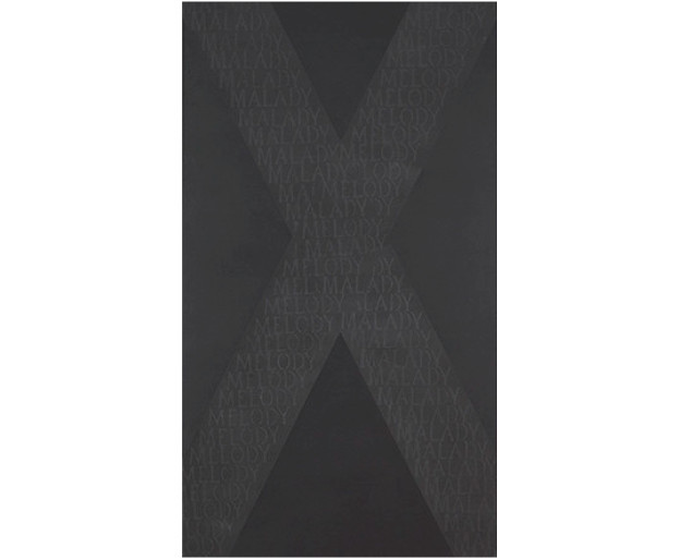 Black painting XV, from 'Malady,' a poem by Bill Manhire, 1970, by Ralph Hotere.