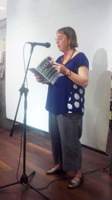 Weigel reading at the book launch in New York, May 12, 2012