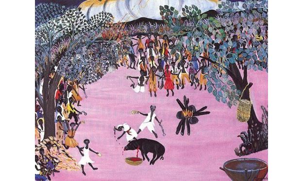 painting by Ernst Prophète (Haitian/Cap-Haitien, b. 1950)