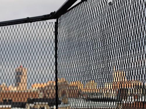 city through fence