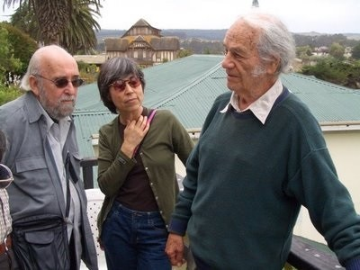 Jerome Rothenberg, Cecilia Vicuña, Nicanor Parra Photo by Francis Cincotta