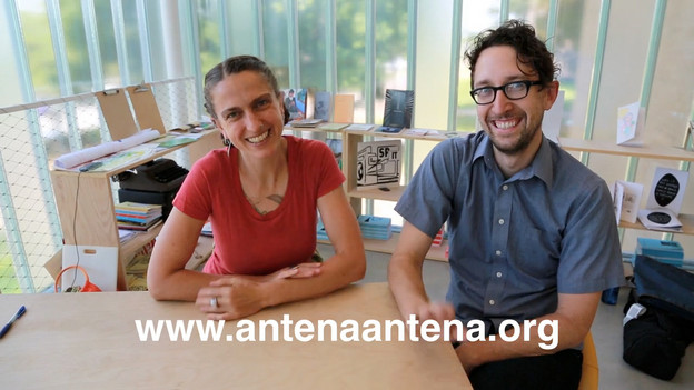 Jen Hofer & John Pluecker, Blaffer Museum. Photo courtesy of Antena/Madsen Minax