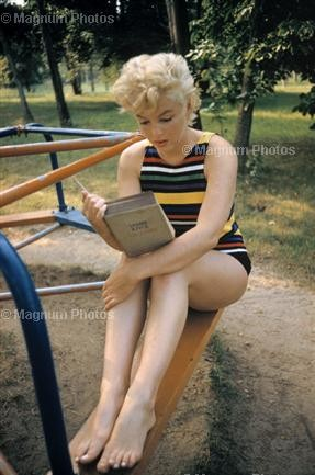 Photo of Marilyn Monroe, 1955, Long Island, New York by Eve Arnold. Copyright Ev