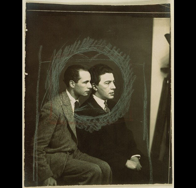Soupault and Breton, photo by Man Ray (1925)
