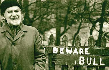 Basil Bunting, Cumbria, UK, 1980. Photograph (c) Jonathan Williams