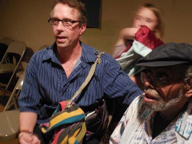 Chris Funkhouser and Amiri Baraka June 2013 photo by Amy Hufnagel