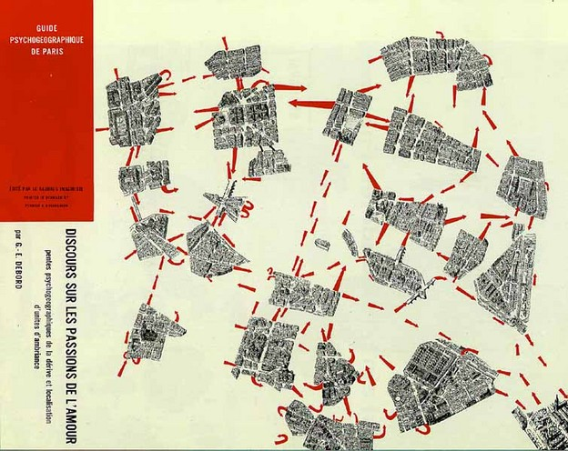Debord and Jorn's Guide Psychogeographique de Paris (1956)