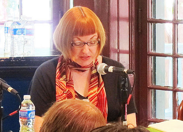 Kathy Lou Schultz at Kelly Writers House, April 2013.
