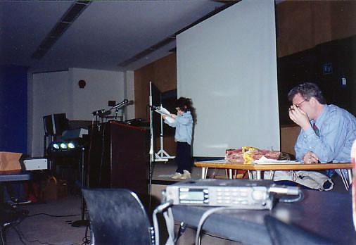 Liaizon Wakest, Mike Basinski, DAT recorder, New Coast festival, Buffalo 1993