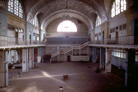 Registry Hall, Ellis Island.