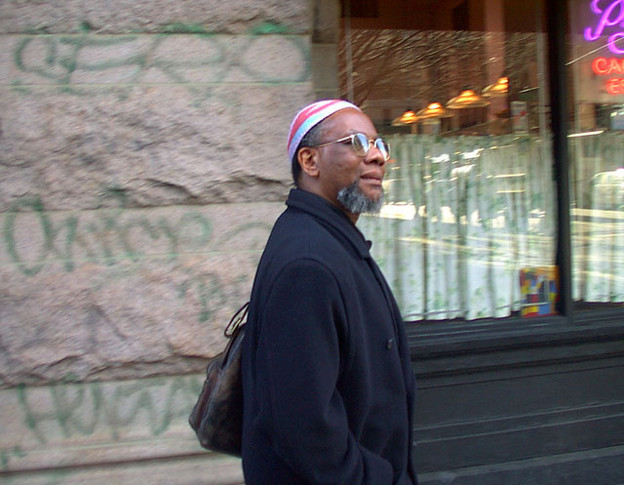 Nathaniel Mackey, NYC, 2000; photo by Chris Funkhouser