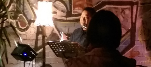 Ouyang Yu reading at Sappho's Cafe and Bookshop (Glebe)