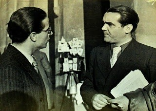 Emilio Prados, left, & Federico García Lorca, Madrid, 1936