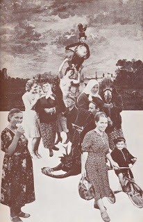 Eleanor Antin: Poland/1931 collage with Jerome Rothenberg (c.1974)
