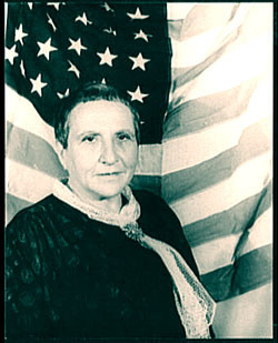 Gertrude Stein as Miss America, photo  by Carl Van Vechten (1880–1964)