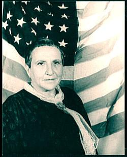 Gertrude Stein as Miss America, photo  by Carl Van Vechten (1880–1964)