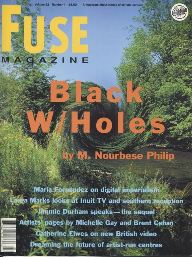Cover of FUSE Magazine, 1998, courtesy of fusemagazine.org