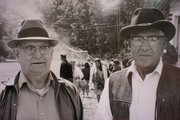 Harry Watt (right) with Ed Currey, circa 1970
