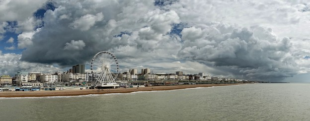 """Weather Warning"" by Tom Lee. CC NC-BY. Brighton seafront as shot from the pier."