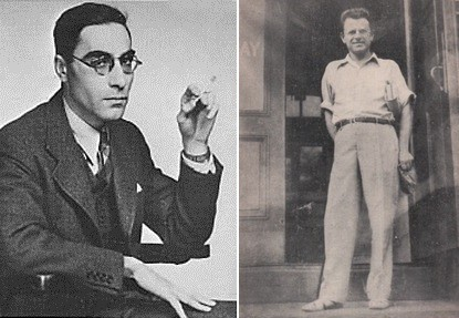 Left, Louis Zukofsky c. 1940; Right, Mikhl Likht, c. 1936