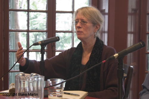 Lyn Hejinian at the Kelly Writers House in 2005. Photo by Blake Martin.